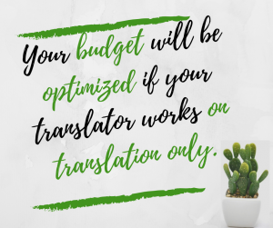 Cost of a translation